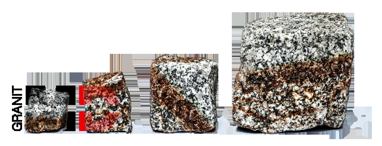 szaro ruda kostka granit